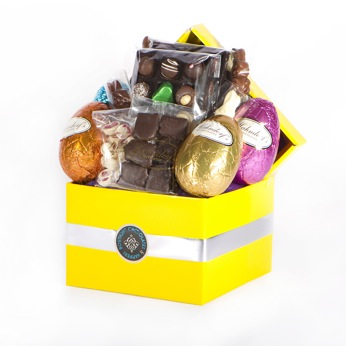 Large easter hamper easter eggs easter gifts negle Images